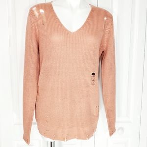 Ambiance Apparel distressed sweater